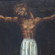 Arte: SANTO CRISTO DE BURGOS OLEO SOBRE TABLA S.XVII. Lote 207482223