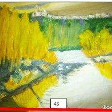Arte: UN PUEBLO EN LO ALTO.OLEO SOBRE CARTULINA DURA.. Lote 207550531