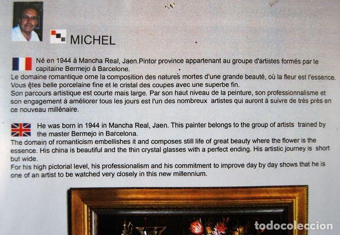 Arte: Roberto Michel - Barcelona 1.959 - NATURALEZA MUERTA - Óleo sobre lienzo - Enmarcado - Foto 8 - 207603141