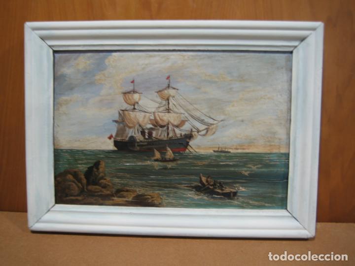 Arte: Pintura Óleo sobre tabla de R. Jimenez de Cordoba - Foto 2 - 207653137
