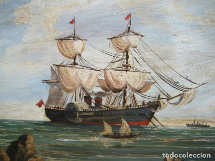 Arte: Pintura Óleo sobre tabla de R. Jimenez de Cordoba - Foto 3 - 207653137