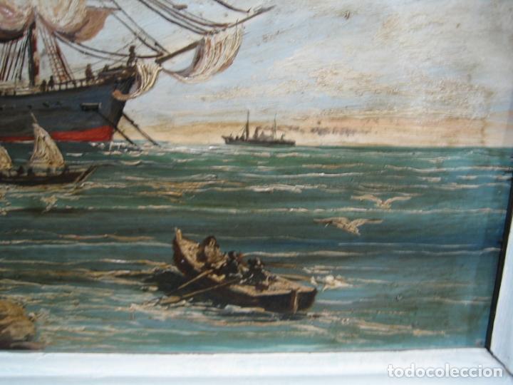 Arte: Pintura Óleo sobre tabla de R. Jimenez de Cordoba - Foto 4 - 207653137