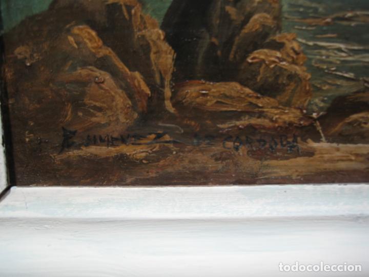 Arte: Pintura Óleo sobre tabla de R. Jimenez de Cordoba - Foto 5 - 207653137
