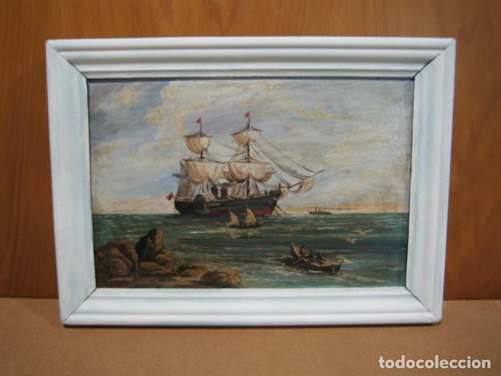 PINTURA ÓLEO SOBRE TABLA DE R. JIMENEZ DE CORDOBA (Arte - Pintura - Pintura al Óleo Contemporánea )