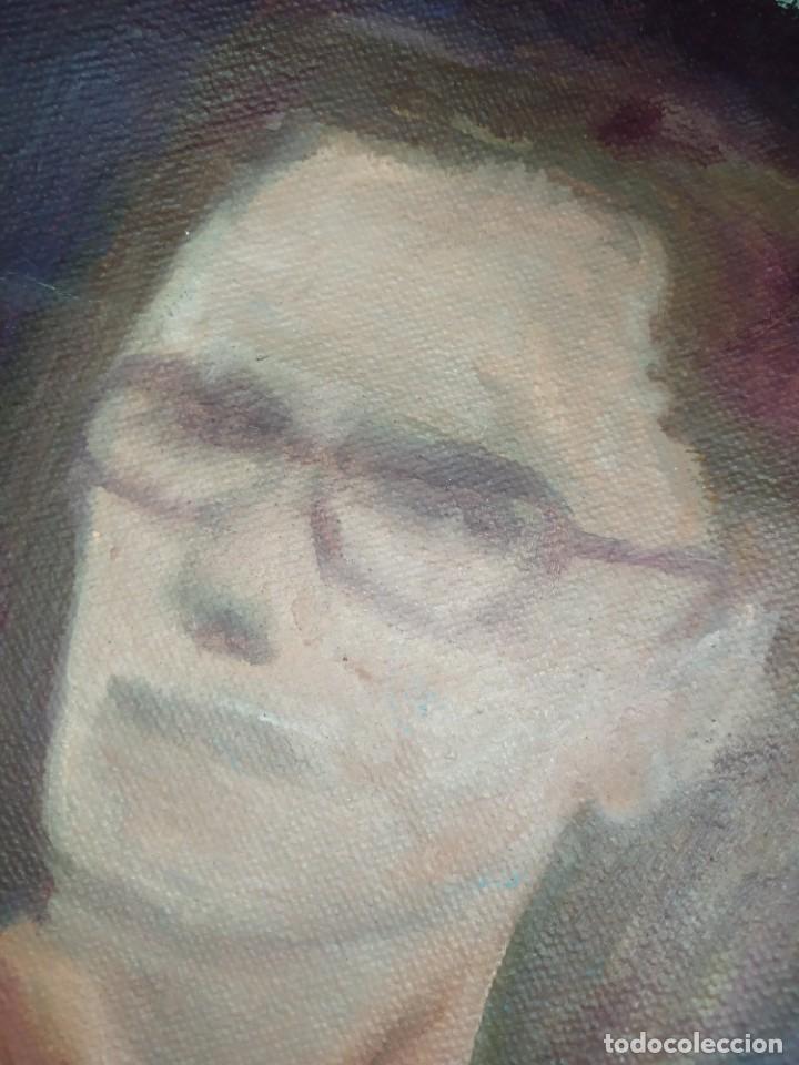 Arte: ÓLEO SOBRE LIENZO MUJER SEÑORA MAYOR ANCIANA ARTÍSTICA ESTUDIO DESNUDA RESTAURAR RECORTADA 94 X 79 - Foto 8 - 207657995