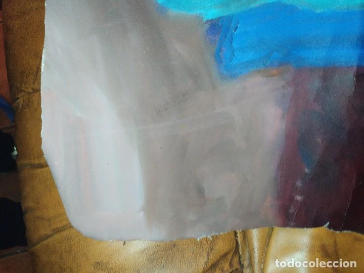 Arte: ÓLEO SOBRE LIENZO MUJER SEÑORA MAYOR ANCIANA ARTÍSTICA ESTUDIO DESNUDA RESTAURAR RECORTADA 94 X 79 - Foto 11 - 207657995