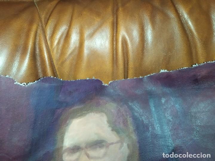 Arte: ÓLEO SOBRE LIENZO MUJER SEÑORA MAYOR ANCIANA ARTÍSTICA ESTUDIO DESNUDA RESTAURAR RECORTADA 94 X 79 - Foto 14 - 207657995