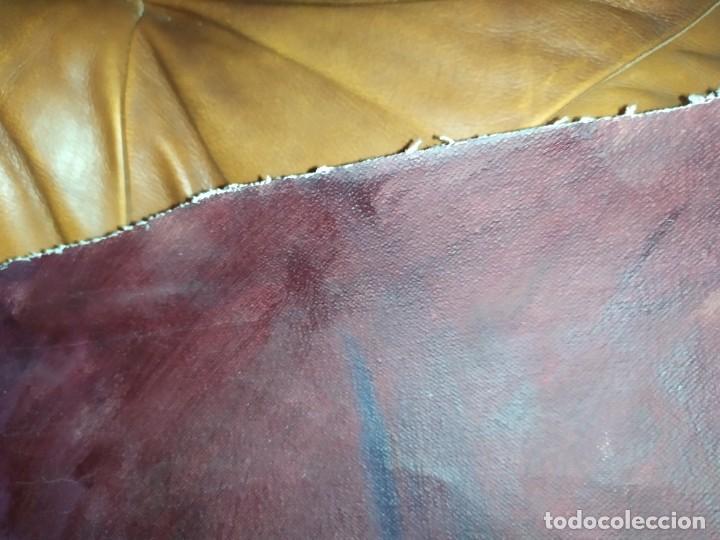 Arte: ÓLEO SOBRE LIENZO MUJER SEÑORA MAYOR ANCIANA ARTÍSTICA ESTUDIO DESNUDA RESTAURAR RECORTADA 94 X 79 - Foto 15 - 207657995
