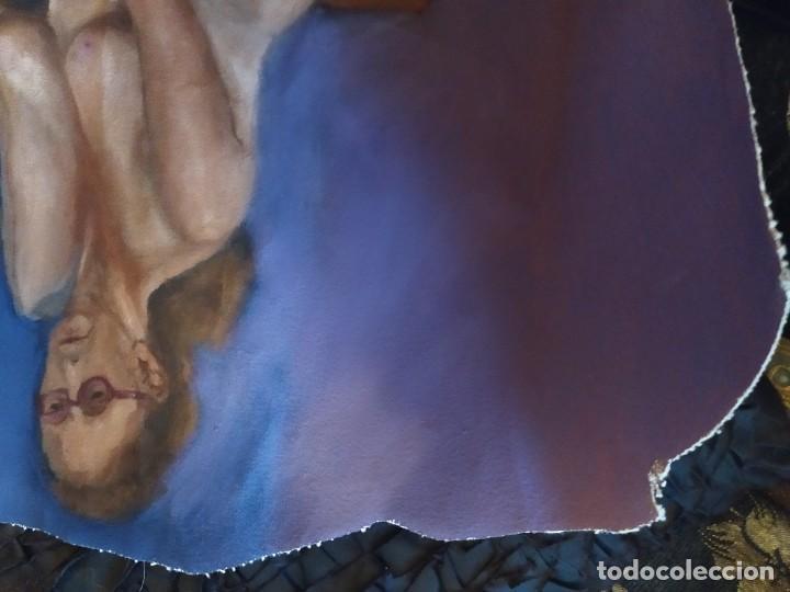 Arte: ÓLEO SOBRE LIENZO MUJER SEÑORA MAYOR ANCIANA ARTÍSTICA ESTUDIO DESNUDA 70 X 53 - Foto 5 - 207659622