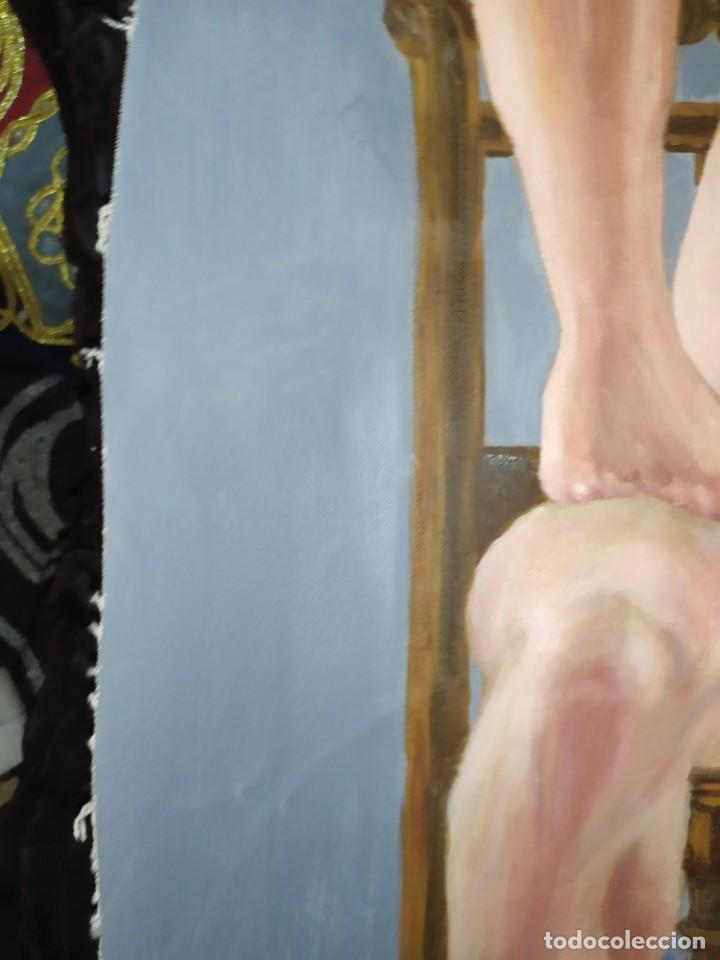 Arte: ÓLEO SOBRE LIENZO CHICO ESTUDIO ARTÍSTICA SEMI DESNUDO SILLA 52 X 63 SIN BASTIDOR RECORTADO - Foto 20 - 207660031