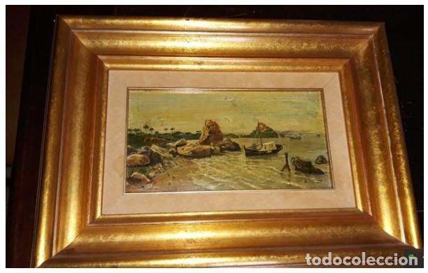 OLEO MINIATURA SOBRE MADERA SIGLO XVIII. . LUIGI CRESPI (1708-1779).ITALIA....ORIGINAL. (Arte - Pintura - Pintura al Óleo Antigua siglo XVIII)