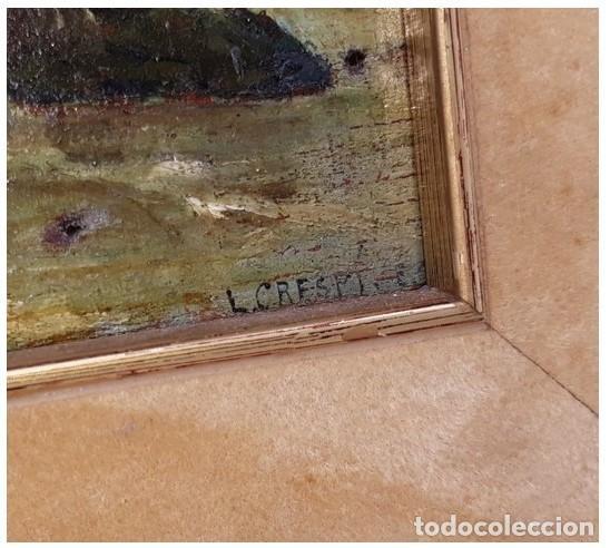 Arte: OLEO MINIATURA SOBRE MADERA SIGLO XVIII. . LUIGI CRESPI (1708-1779).ITALIA....ORIGINAL. - Foto 4 - 207685545