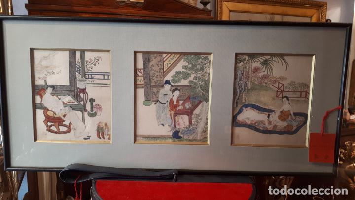 PINTURAS ERÓTICAS,JAPÓN S.XIX. (Arte - Pintura - Pintura al Óleo Moderna siglo XIX)