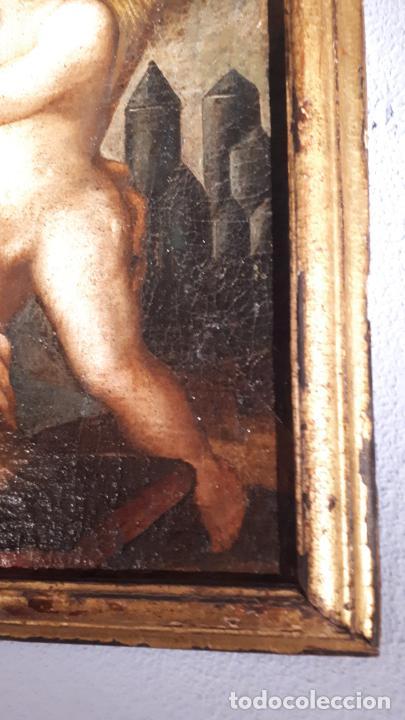 Arte: SAN ANTONIO. ÓLEO SIGLO XVII CASTILLA. - Foto 3 - 207815093
