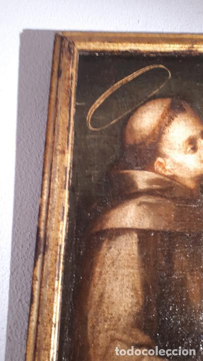 Arte: SAN ANTONIO. ÓLEO SIGLO XVII CASTILLA. - Foto 5 - 207815093