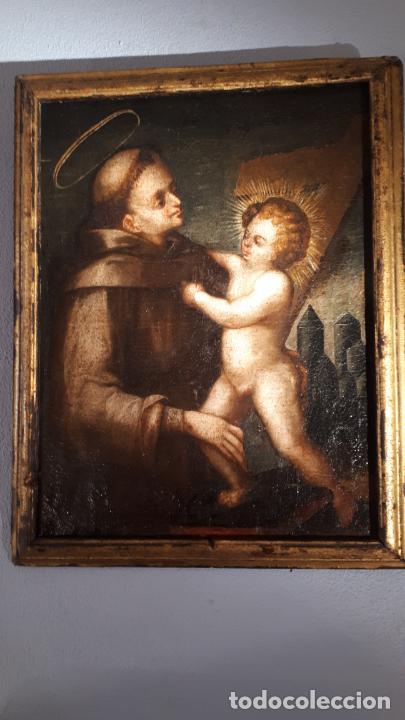 SAN ANTONIO. ÓLEO SIGLO XVII CASTILLA. (Arte - Pintura - Pintura al Óleo Antigua siglo XVII)