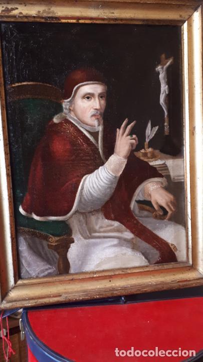 RETRATO CLÉRIGO.ÓLEO SIGLO XVIII (Arte - Pintura - Pintura al Óleo Antigua siglo XVIII)