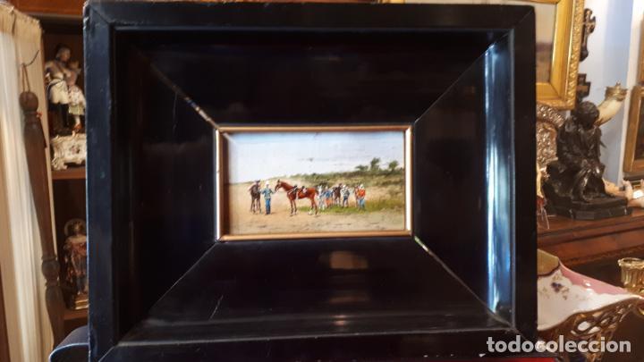 Arte: MILITARES.ÓLEO SOBRE TABLA, CIRCA 1900. - Foto 2 - 207825398