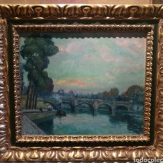 Arte: LE PONT NEUF DE PARÍS POR RAFAEL MARTÍNEZ PADILLA (1878-1961). Lote 207830247