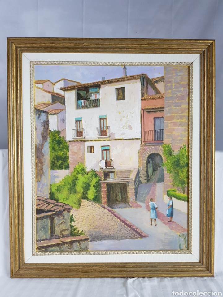 Arte: Pueblo probablemente Granollers por Vicenç Casals Grau (1916-2004) - Foto 2 - 207833061