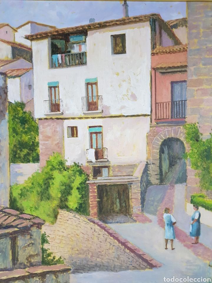 PUEBLO PROBABLEMENTE GRANOLLERS POR VICENÇ CASALS GRAU (1916-2004) (Arte - Pintura - Pintura al Óleo Contemporánea )