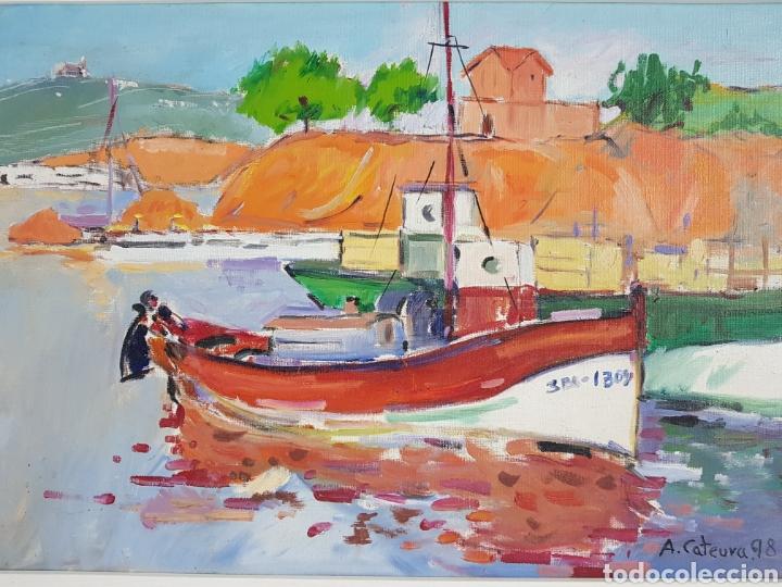 MARINA POR A. CATEURA (Arte - Pintura - Pintura al Óleo Contemporánea )