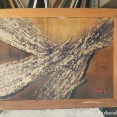 Arte: TORNERS CASELLES TECNICA MIXTA SOBRE PAPEL CERAS ACRILICO AÑOS 60 73X101CMS. Lote 207841763