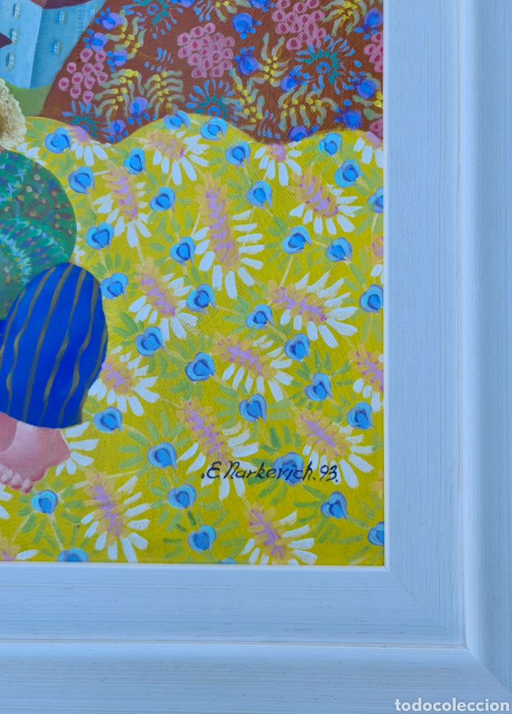 Arte: Elena Narkevich (Minsk 1964), preciosa pintura original firmada. - Foto 4 - 207870885