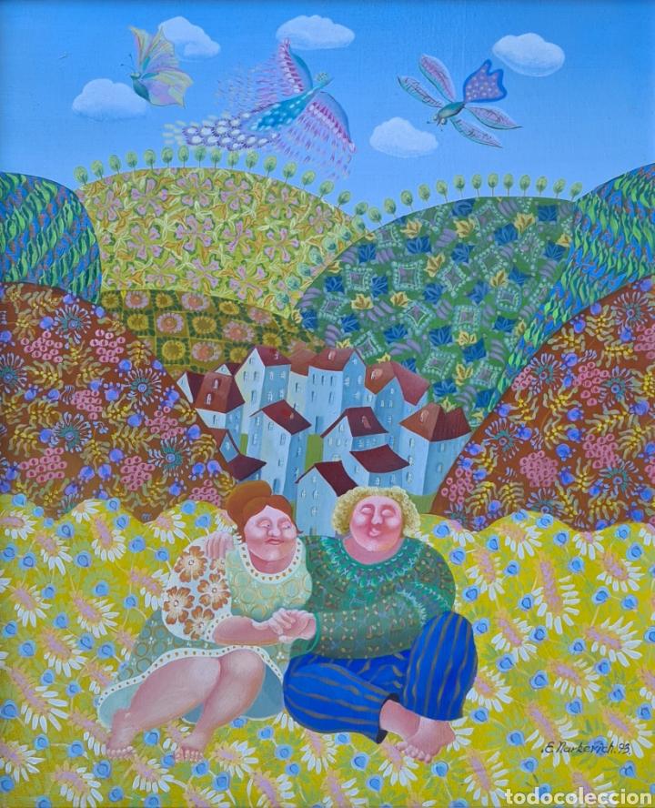 ELENA NARKEVICH (MINSK 1964), PRECIOSA PINTURA ORIGINAL FIRMADA. (Arte - Pintura - Pintura al Óleo Contemporánea )