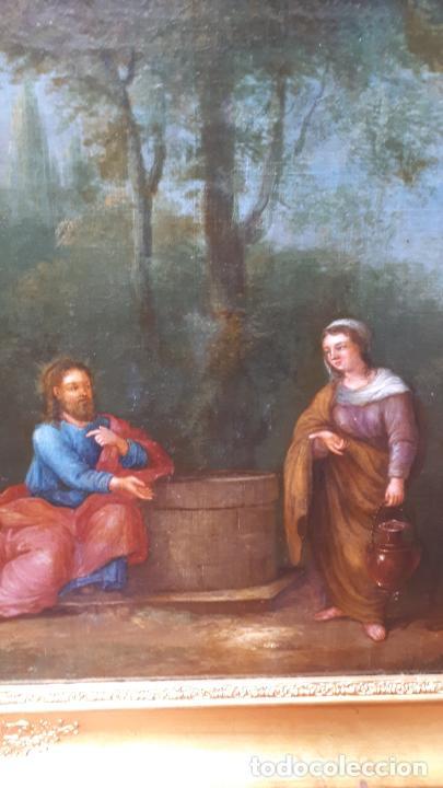 Arte: LA SAMARITANA, ÓLEO, FRANCIA, SIGLO XVIII. - Foto 8 - 207919778