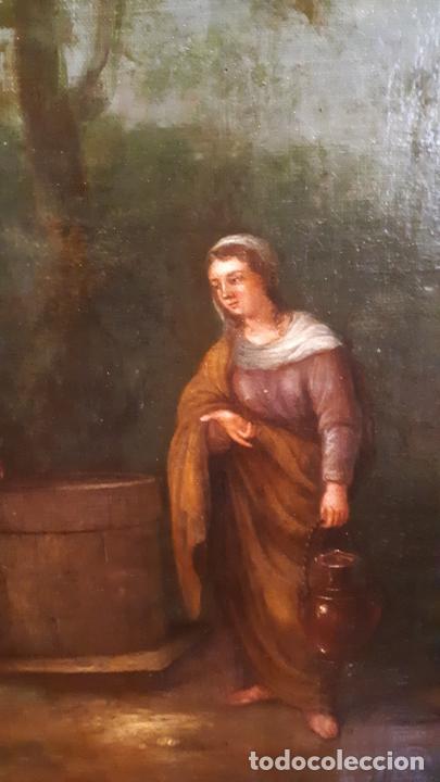 Arte: LA SAMARITANA, ÓLEO, FRANCIA, SIGLO XVIII. - Foto 9 - 207919778