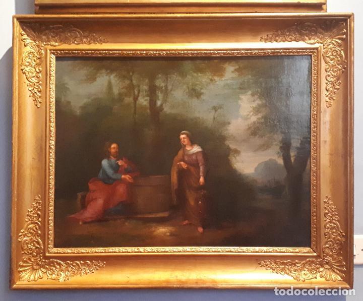 Arte: LA SAMARITANA, ÓLEO, FRANCIA, SIGLO XVIII. - Foto 12 - 207919778