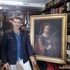 Arte: OLEO SANTA CATALINA DE ALEJANDRIA...ESCUELA SEVILLANA SIGLO XVII. ARTE.CON INFORME .. Lote 208034072