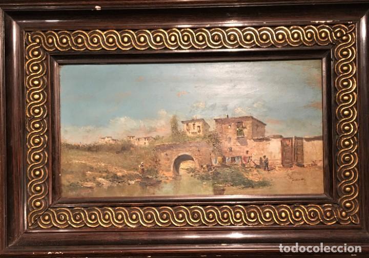 Arte: Paisaje, escuela española, firmado Fernández - Foto 4 - 208036892