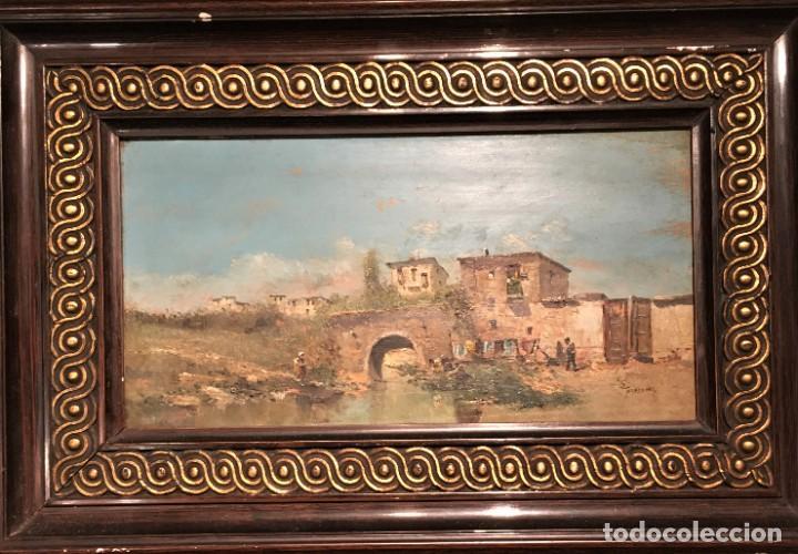Arte: Paisaje, escuela española, firmado Fernández - Foto 5 - 208036892