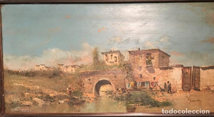 Arte: Paisaje, escuela española, firmado Fernández - Foto 7 - 208036892