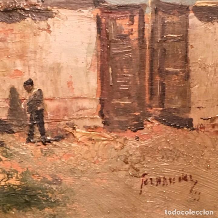 Arte: Paisaje, escuela española, firmado Fernández - Foto 18 - 208036892