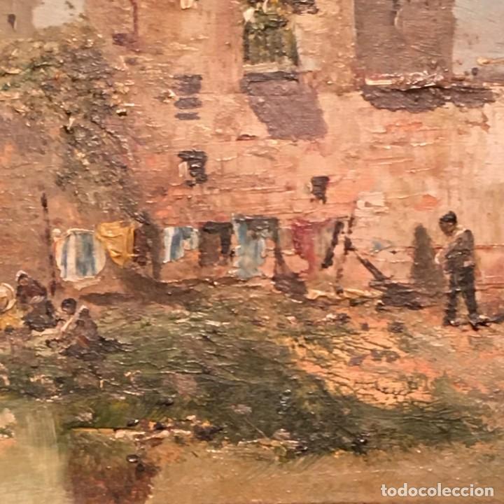 Arte: Paisaje, escuela española, firmado Fernández - Foto 19 - 208036892