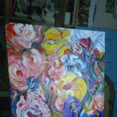 Arte: PINTURA EXPRESIONISTA FLORES. Lote 207147420