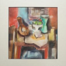 Arte: JORGE OLIVA LOPEZ - BODEGÓN SOBRE MESA CON LAÚD.FIRMADO.1991.PINTOR CHILENO RESIDENTE EN MADRID.. Lote 207818462