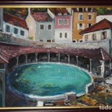 Arte: ÓLEO SOBRE TABLA,(YONNE)TONNERRE-FIRMADO POR ARACIL. Lote 208109180