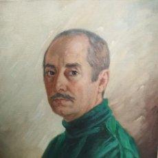 Arte: RETRATO AL OLEO ARTISTA GERMAN PEREZ ROMAN 1978. Lote 208147707