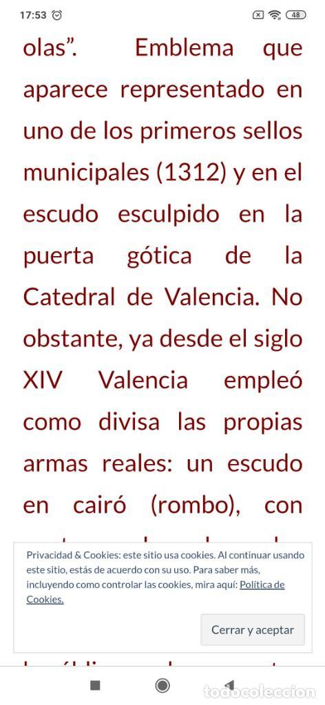 Arte: ESCUDO VALENCIA ESPAÑA ÓLEO SOBRE LIENZO SIN BASTIDOR SIN FIRMA APARENTE GRANDE - Foto 20 - 208164107