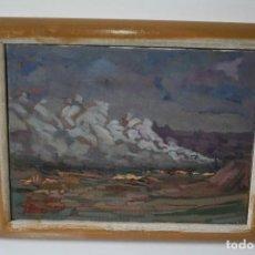 Arte: ILEGIBLE, OLEO SOBRE TELA, FIRMADO Y DEDICADO.. Lote 208184452
