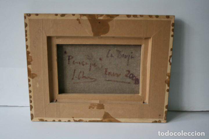 Arte: ILEGIBLE, OLEO SOBRE TELA, FIRMADO Y DEDICADO. - Foto 3 - 208184452