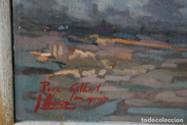 Arte: ILEGIBLE, OLEO SOBRE TELA, FIRMADO Y DEDICADO. - Foto 5 - 208184452