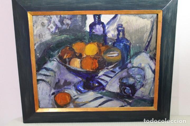 BODEGON-ÓLEO SOBRE TABLA ,ENMARCADO-FIRMADO POR GUESDE (Arte - Pintura - Pintura al Óleo Moderna sin fecha definida)