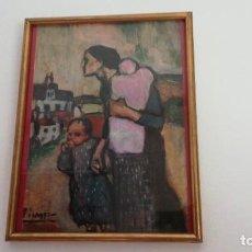 Arte: PINTURA . LA MADRE LLEVADO DOS NIÑOS. PABLO PICASSO. COPIA PROFESIONAL ENMARCADA CON VIDRIO.. Lote 208395268