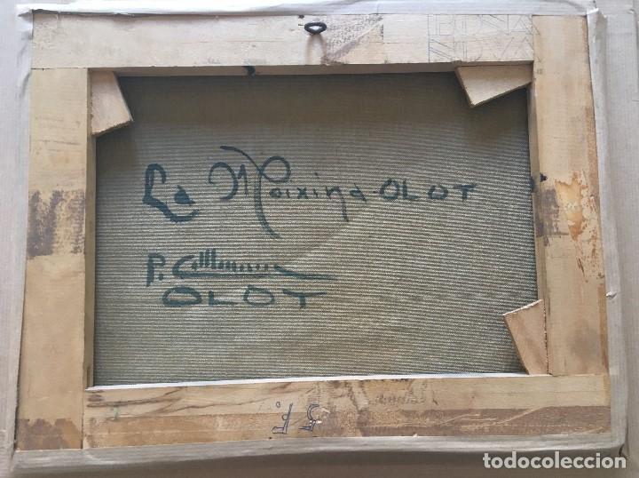 Arte: La Moixina - Olot de Pere Colldecarrera (firmado tambien por atras), óleo sobre lienzo - Foto 5 - 139457278