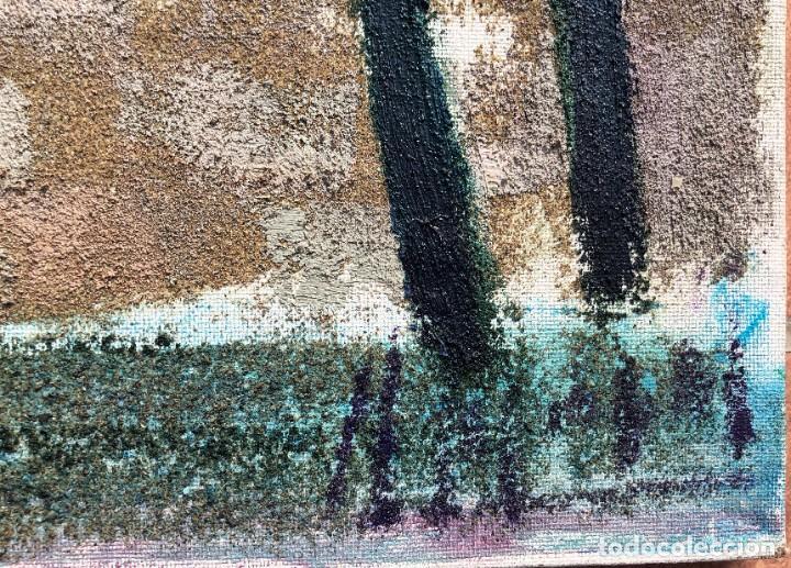 Arte: Manuel Capdevila Massana (1910-2006) - Muralla Jerusalen - Óleo lienzo - Foto 2 - 208408702